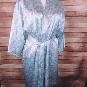 Thalia & Sodi pastel blue/pink robe L/XL